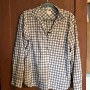 J.CREW Boy Fit Plaid Shirt